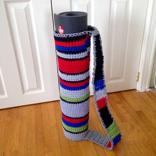 Recycled T-shirt Yarn Yoga Mat Bag